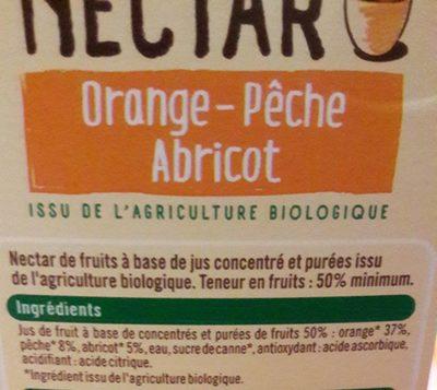 Nectar orange-pêche abricot - Ingredienti - fr