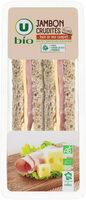 Sandwich jambon crudité paim mie complet - Produit - fr