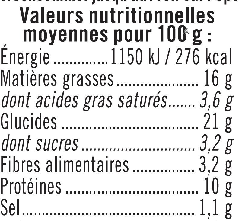Sandwich jambon crudité paim mie complet - Informations nutritionnelles - fr