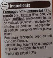 Fondue aux 3 fromages - Ingrediënten