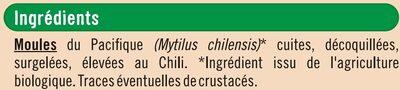 Moules du Pacifique cuites dé-coquillées - Ingrédients - fr