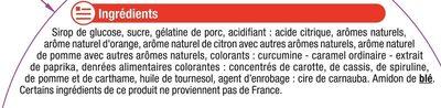 Assortiment gélifiés - Ingredients