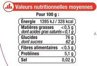 Assortiment gélifiés - Informations nutritionnelles - fr