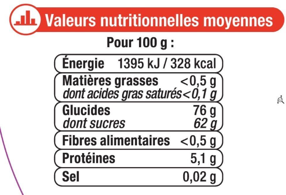 Assortiment gélifiés - Nutrition facts