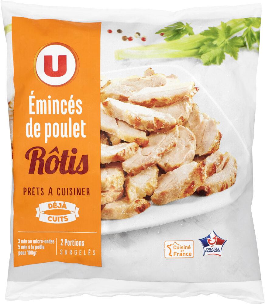 Emincés de poulet rôtis cuits surgelés - Produit - fr