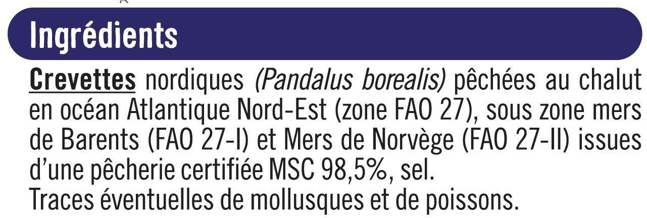 Crevettes nordiques cuites décortiquées - Ingrediënten - fr