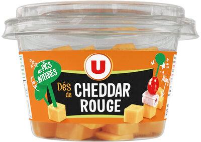 Dés Cheddar rouge pasteurisé 32%MG - Produit - fr