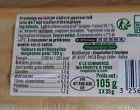 Fromage de chèvre lait pasteurisé 21% de MG - Voedingswaarden - fr