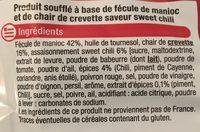 Chips à la crevette - Ingrediënten
