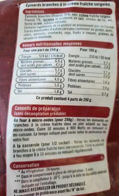 ÉPINARDS EN BRANCHE - Ingrediënten