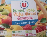 Compote pomme poire pêche abricot framboise - Product