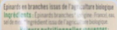 Epinards en branches - Ingrédients - fr