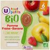 petit pots dessert pomme fraise banane U_TOUT_PETITS Bio - Product