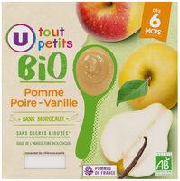 Pots dessert pomme poire vanille U_TOUT_PETITS Bio - Produit - fr