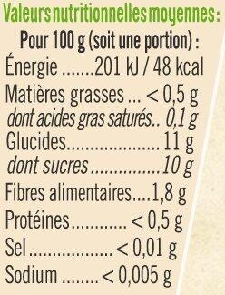 Pots dessert pomme poire vanille 6 mois - Voedingswaarden - fr