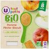 Pots dessert pomme pêche biscuit U_TOUT_PETITS Bio - Product