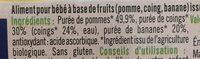 Compote pomme coing banane - Ingrediënten