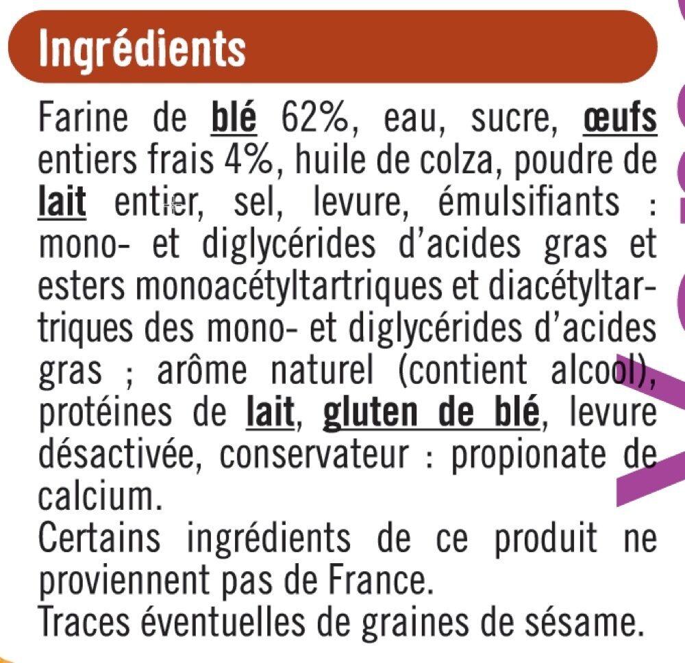 Brioches burger - Ingrediënten - fr