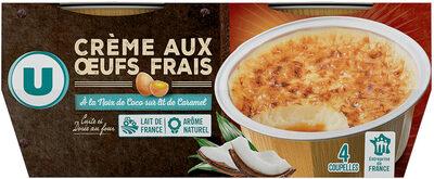 Crème aux oeufs noix de coco sur lit de caramel - Produit - fr