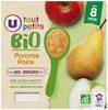 Pots pour bébé dessert pomme et poire avec morceaux U_TOUT_PETITS Bio - Product