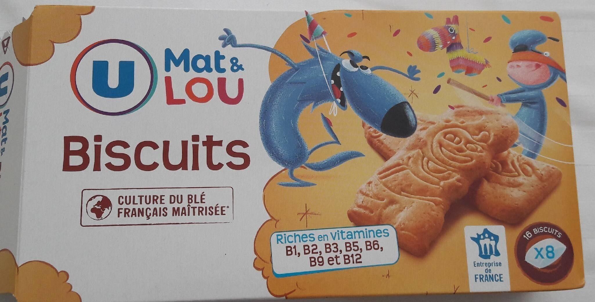 Biscuits nature Mat et Lou - Ürün