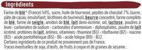 Biscuits aux pépites de chocolat riches en vitamines - İçindekiler - fr