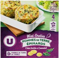 Mini gratin pommes de terre épinards - Produit - fr