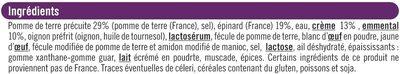 Mini gratin pommes de terre épinards - Ingrédients - fr