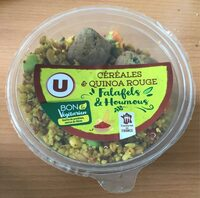 Céréales et quinoa rouge falafels et houmous - Product - fr