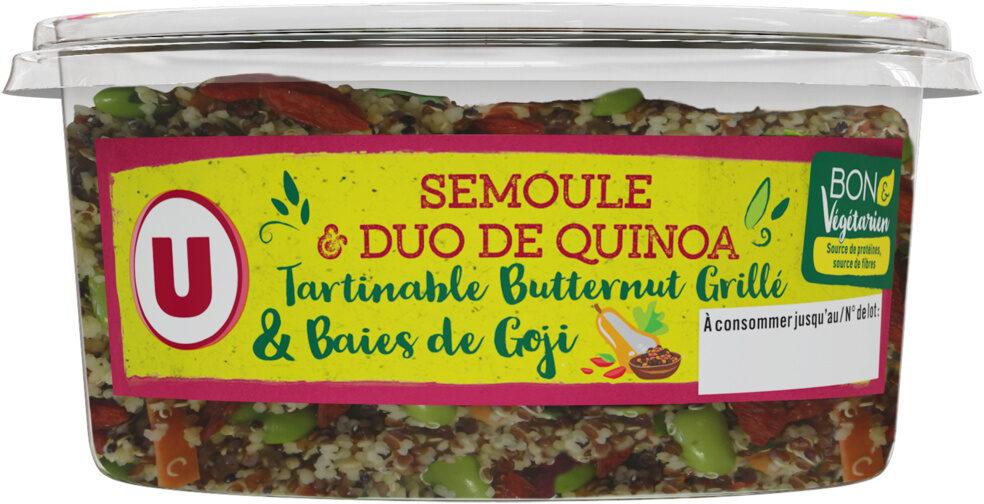 Semoule et duo de quinoa, tartinable butternut grillé et baies de Goji - Produit - fr