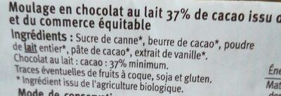 Lapin chocolat au lait - Ingredienti - fr