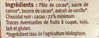 Oeuf en chocolat noir - Ingredients