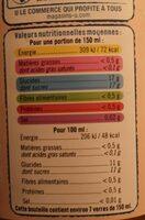 Nectar passion yuzu - Nutrition facts - fr