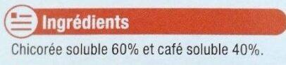 Chicorée café soluble - Ingredients - fr