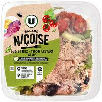 Salade niçoise duo de riz thon oeuf sauce vinaigre balsamique - Produit - fr