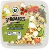 Salade 3 fromages fusili mozzarella chevre emmental sauce miel et auxdeux moutardes - Product