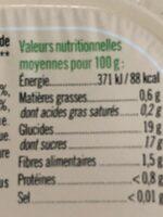 Purée pomme pruneau sans sucre ajoutés - Informations nutritionnelles - fr