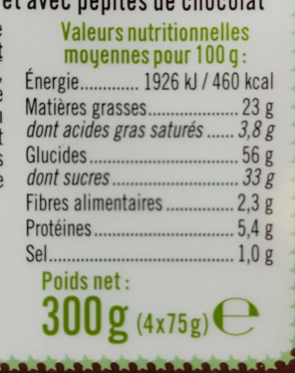 Muffins fourrés goût chocolat cacao noisette - Informations nutritionnelles - fr