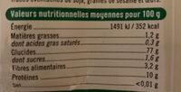 Farine de blé type 65 bio - Nutrition facts