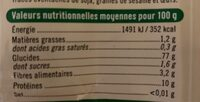 Farine de blé T65 Bio - Voedingswaarden - fr