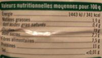 Préparation pour pain complet - Voedingswaarden - fr