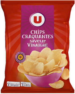 Chips craquantes ondulées saveur vinaigre - Prodotto - fr