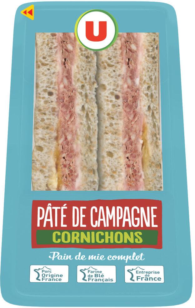 Sandwich club pâté de campagne cornichons et salade - Product - fr