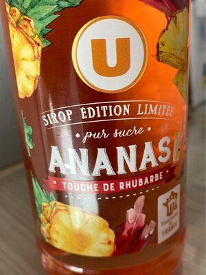 Sirop d'ananas & rhubarbe édition limitée - Prodotto - fr