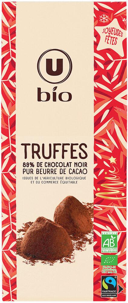 Truffes 89% chocolat noir pur beurre cacao BIO - Product - fr
