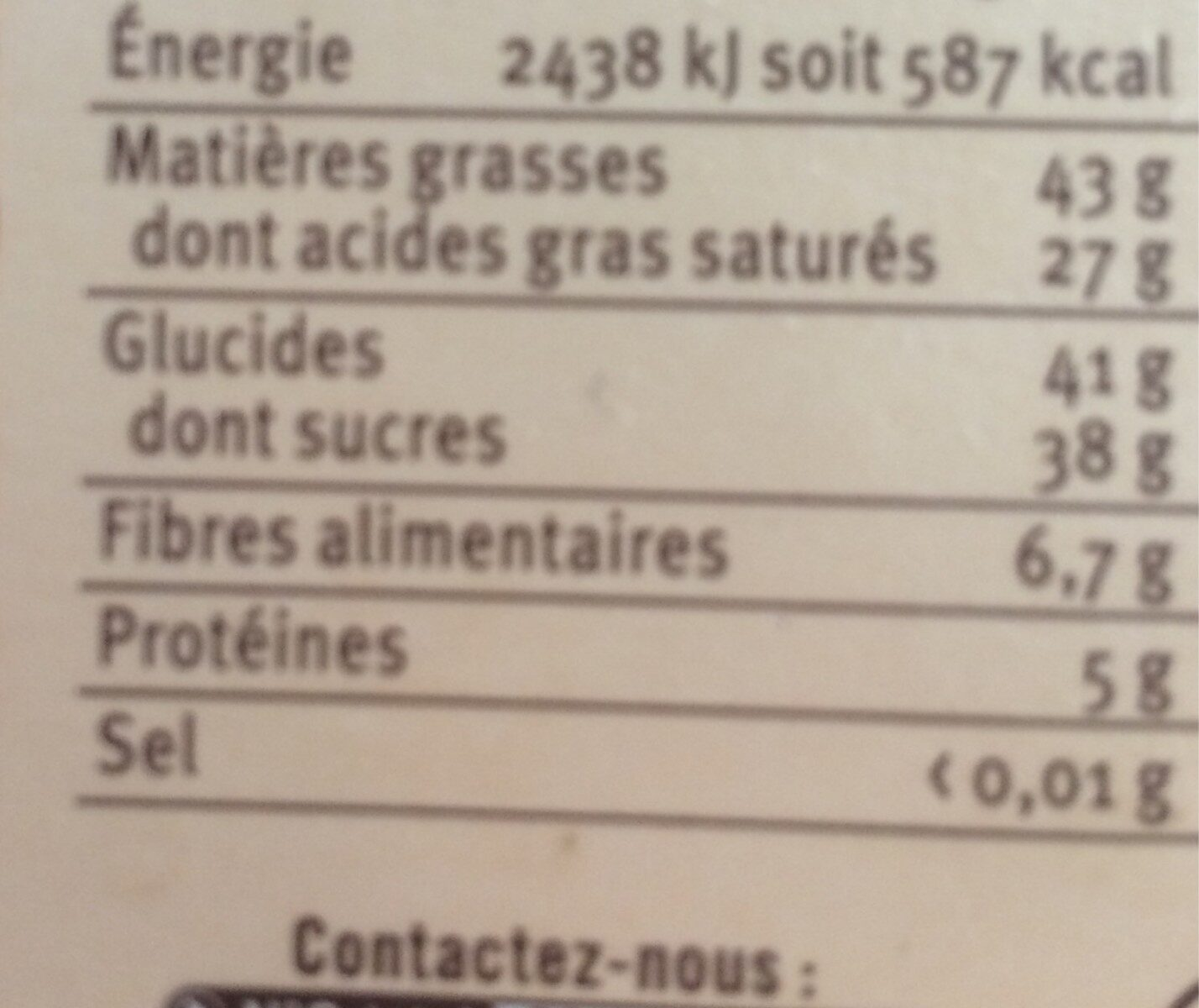 Truffes 89% chocolat noir pur beurre cacao BIO - Voedingswaarden - fr