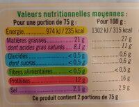 Lardons nature VPF - Informations nutritionnelles - fr