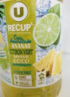 U recup' eau aromatisée ananas citron vert coco - Nutrition facts - fr