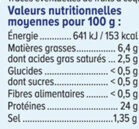 Roti de porc -25% de sel - Informations nutritionnelles - fr