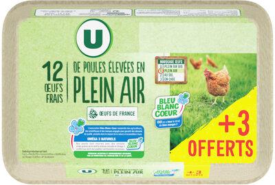 Oeufs poules plein air tous calibres - Product - fr